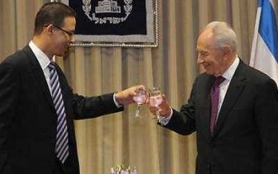 نتنياهو يرحب بالسفير المصري مؤتمر 2010394.jpg
