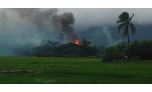 القوات الحكومية بميانمار تشعل النار 733712102016083323.jpg