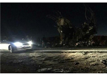 قتيلاً هجوم انتحاري حافلة للحرس 733713022019084557.jpg